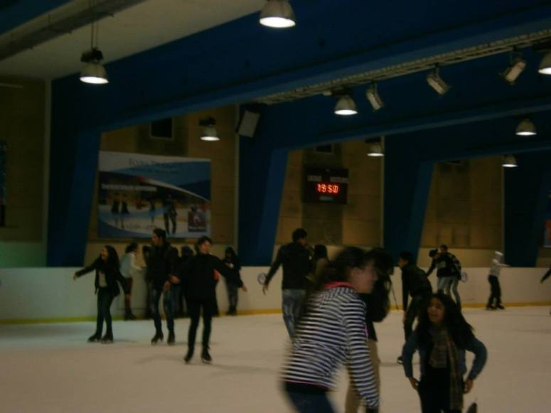 This popular ice skating rink in a shopping mall in Rabat is a part of