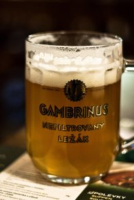 Gambrinus unfiltered beer. AS