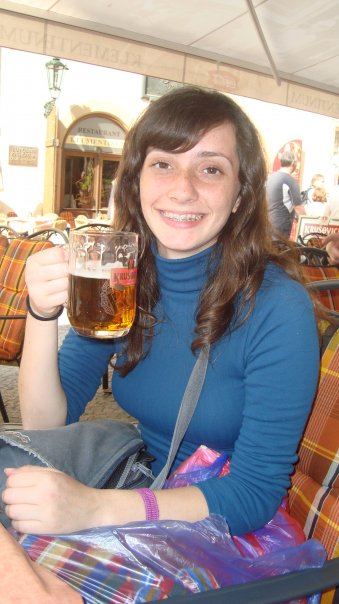 Also a great place to enjoy a Pilsner...(bonus pic of 19 year-old me with braces)