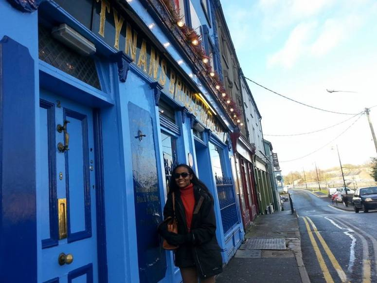 In front of Tynan's, one of the oldest pubs in Kilkenny, IE
